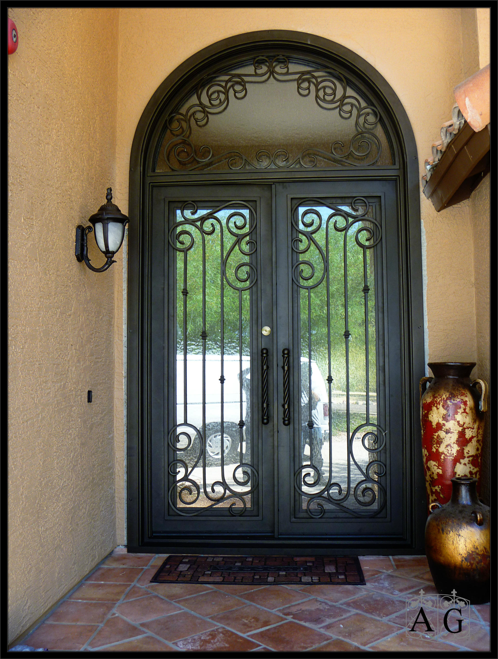 Types of custom entry doors allied gate co for Custom transom