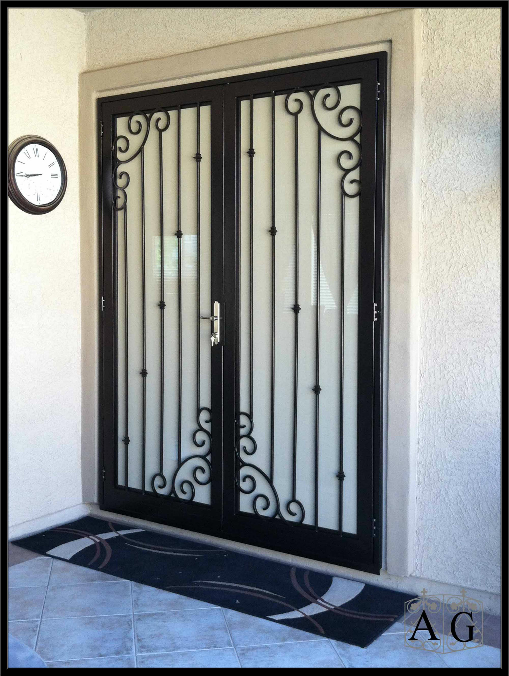 iron screen gatehouse and wrought security x gibraltar in cabinet door storm doors